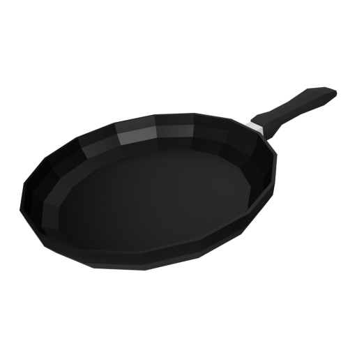 Frying Pan 1 - Large 3D Model