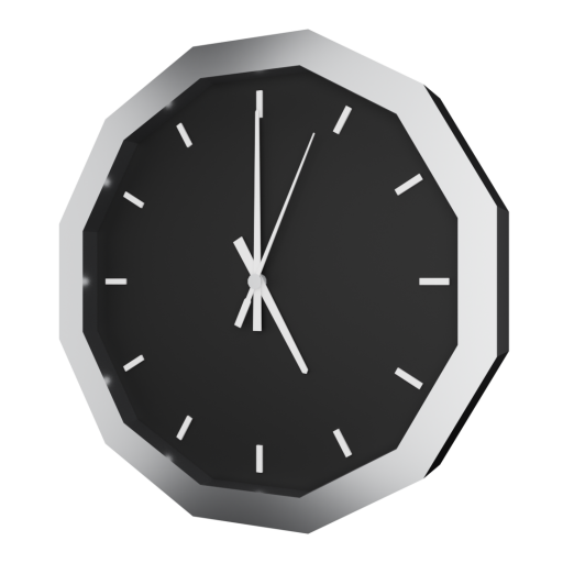 Analog Wall Clock 1 3D Model