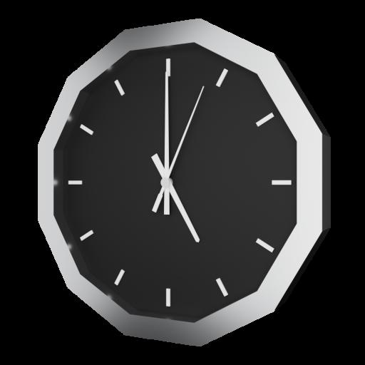 Analog Wall Clock 1 3D Model