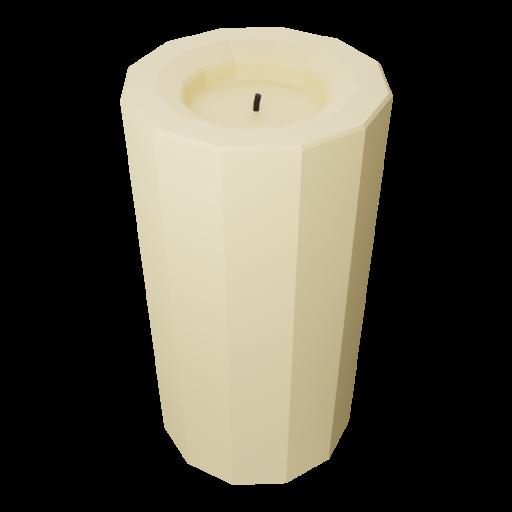 Pillar Candle 1 - Medium 3D Model