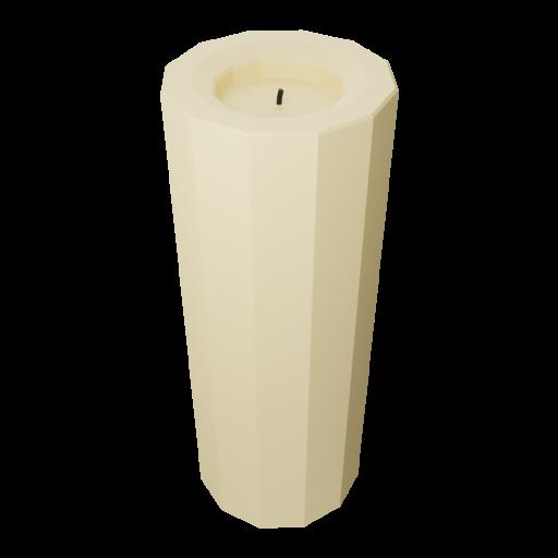 Pillar Candle 1 - Tall 3D Model