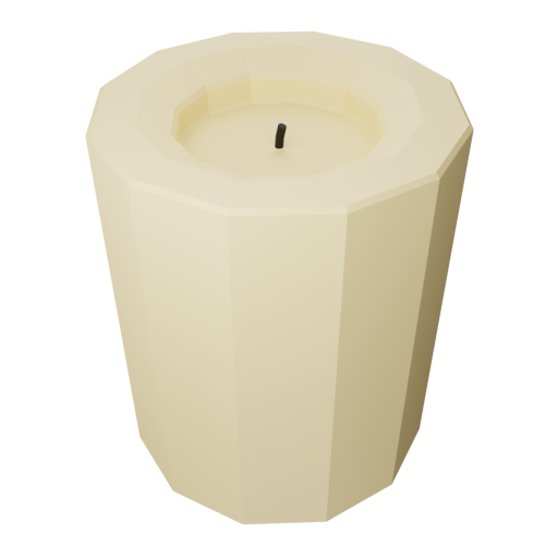 Pillar Candle 1 3D Model