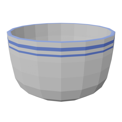 Bowl 1 - Soup 3D Model