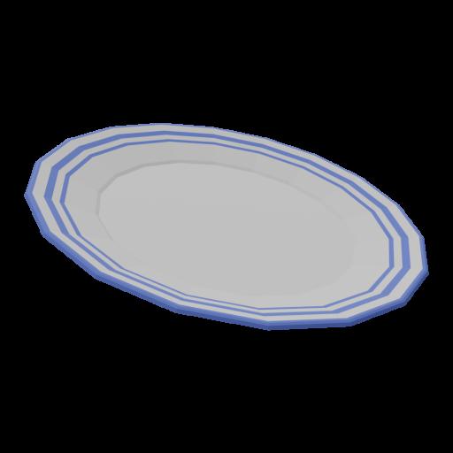 Plate 1 - Dinner 3D Model