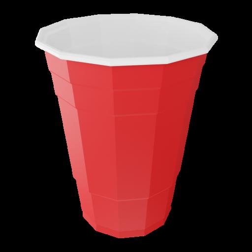Disposable Plastic Cup 1 3D Model