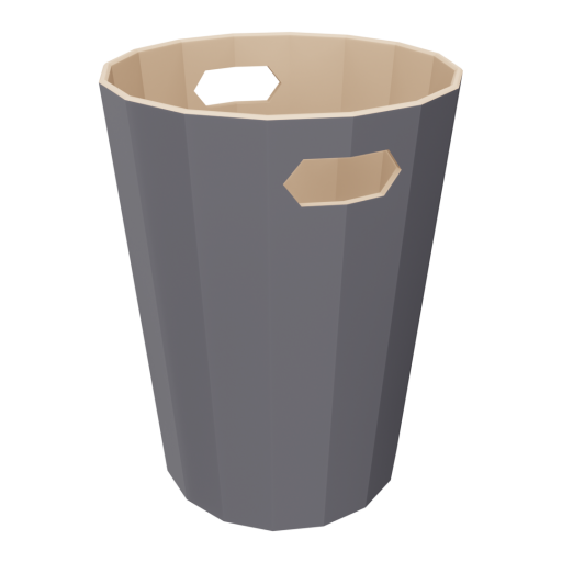 Indoor Trash Can 2 3D Model