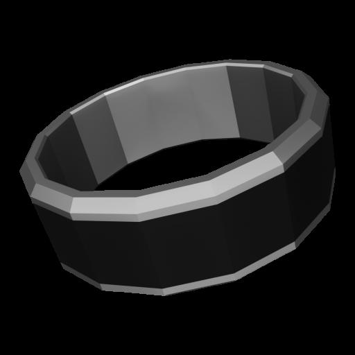 Wedding Ring Modern 1 - Tungsten Carbide 3D Model
