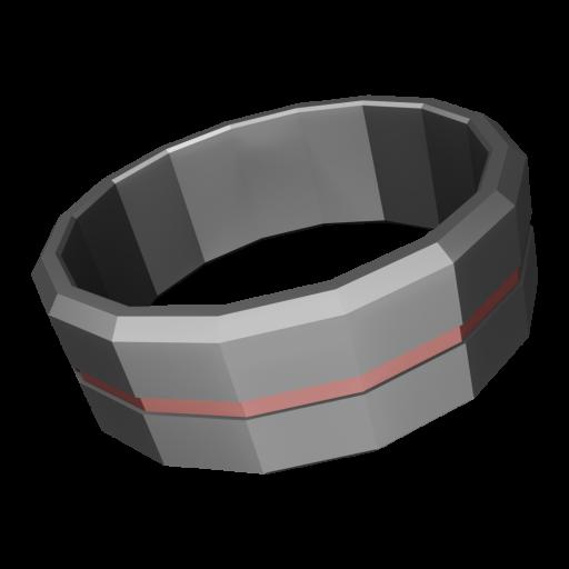 Wedding Ring Modern 2 - Tungsten Carbide 3D Model