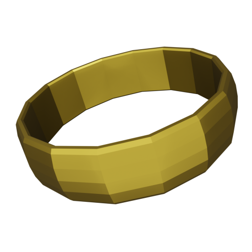 Wedding Ring Traditional 1 - Gold 3D Model
