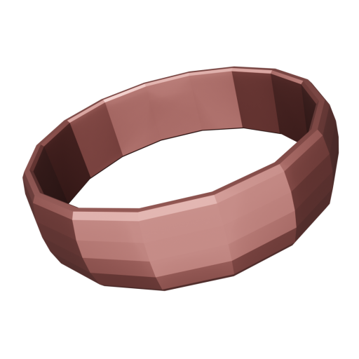 Wedding Ring Traditional 1 - Rose Gold 3D Model