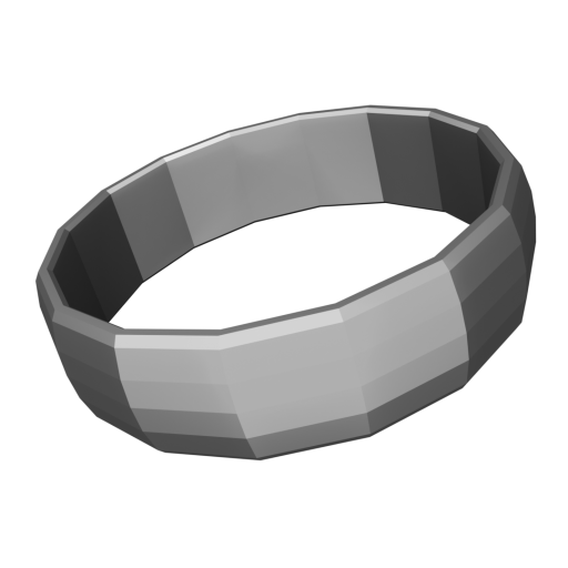 Wedding Ring Traditional 1 - Silver 3D Model