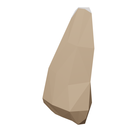 Boulder 3 - Brown - Snow-Covered 3D Model