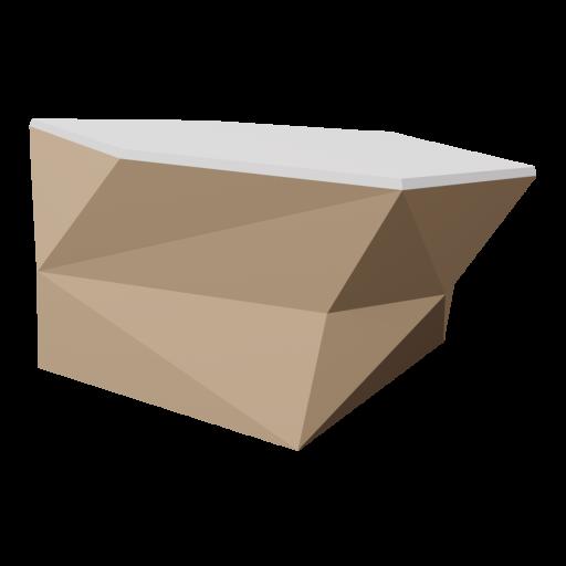 Boulder 4 - Brown - Snow-Covered 3D Model