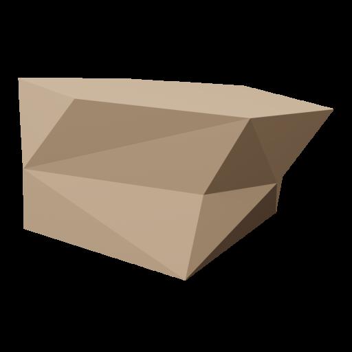 Boulder 4 - Brown 3D Model
