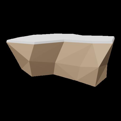 Boulder 5 - Brown - Snow-Covered 3D Model