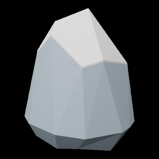Boulder 6 - Gray - Snow-Covered 3D Model