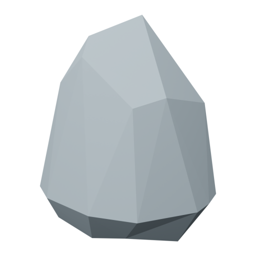 Boulder 6 - Gray 3D Model