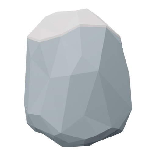Boulder 7 - Gray - Snow-Covered 3D Model