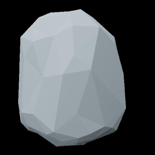 Boulder 7 - Gray 3D Model
