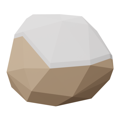 Rock 1 - Brown - Snow-Covered 3D Model