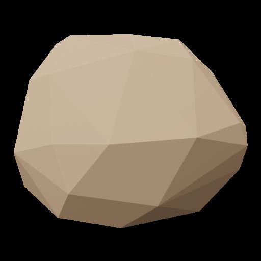 Rock 1 - Brown 3D Model