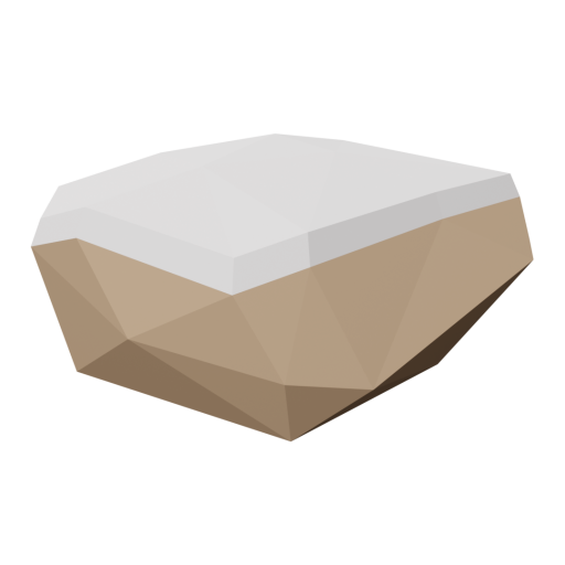 Rock 2 - Brown - Snow-Covered 3D Model