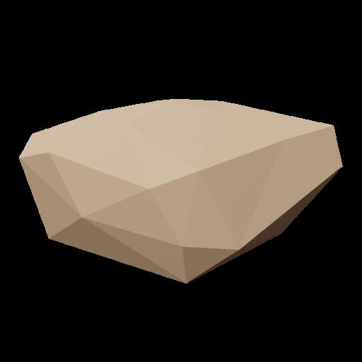 Rock 2 - Brown 3D Model