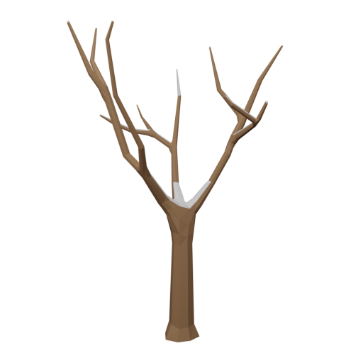 Maple Tree 1 - Dead - Snow-Covered 3D Model