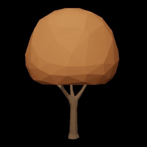 Maple Tree 1 - Orange 3D Model