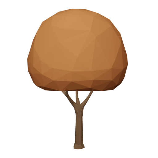 Maple Tree 1 - Orange 3D Model