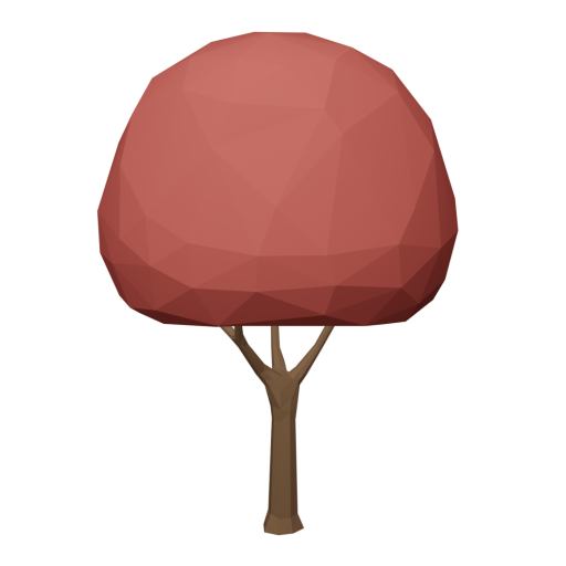 Maple Tree 1 - Red 3D Model