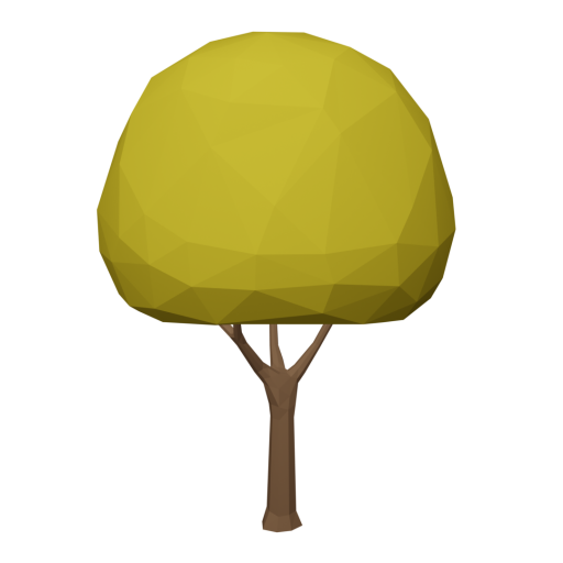 Maple Tree 1 - Yellow 3D Model