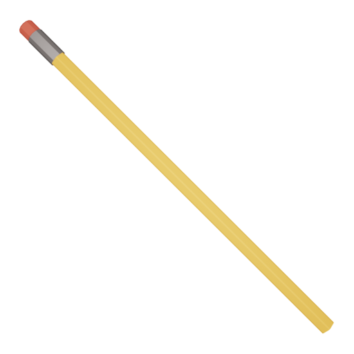 Pencil 1 - Unsharpened 3D Model