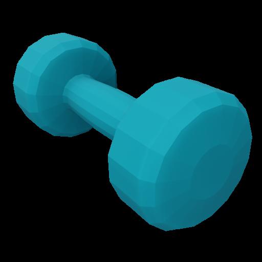 Dumbbell Neoprene 1 - Small - Blue 3D Model