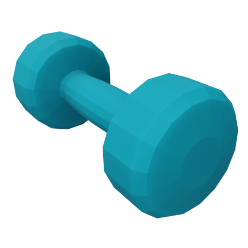 Dumbbell Neoprene 1 - Small - Blue 3D Model