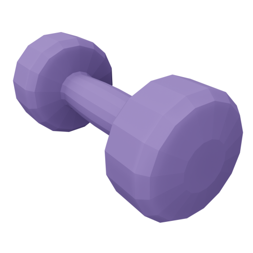 Dumbbell Neoprene 1 - Small - Purple 3D Model