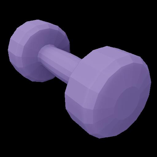 Dumbbell Neoprene 1 - Small - Purple 3D Model