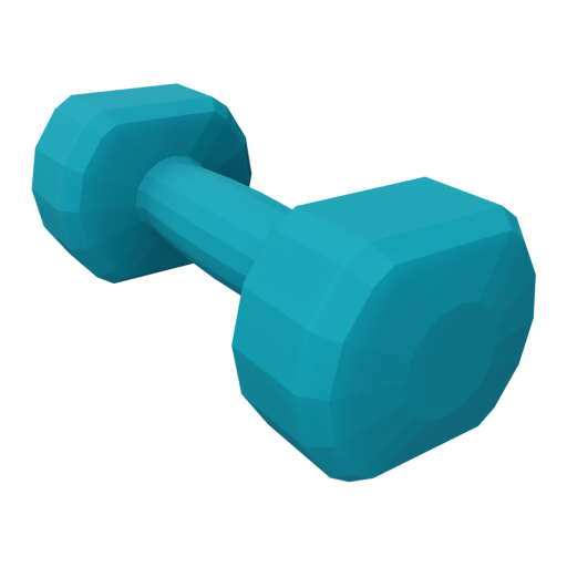 Dumbbell Neoprene 2 - Small - Blue 3D Model