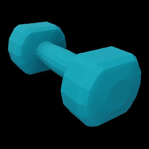 Dumbbell Neoprene 2 - Small - Blue 3D Model