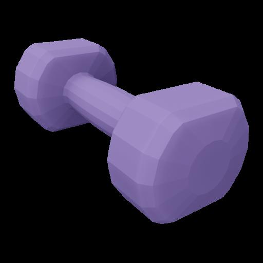 Dumbbell Neoprene 2 - Small - Purple 3D Model