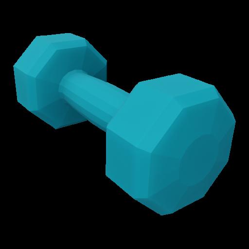 Dumbbell Neoprene 3 - Small - Blue 3D Model