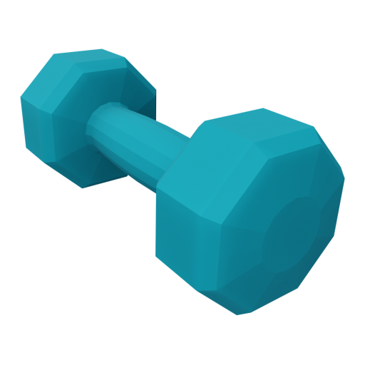 Dumbbell Neoprene 3 - Small - Blue 3D Model