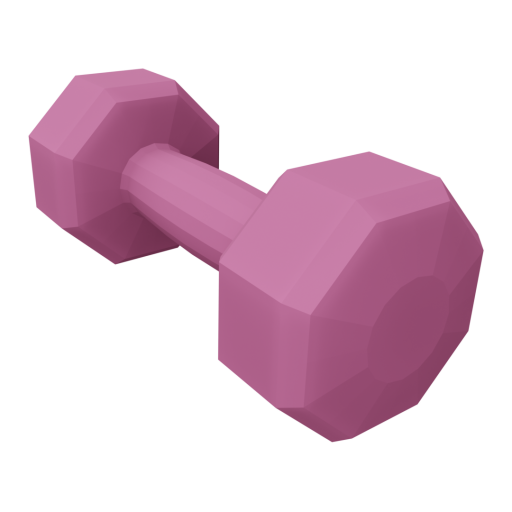 Dumbbell Neoprene 3 - Small - Pink 3D Model