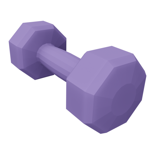 Dumbbell Neoprene 3 - Small - Purple 3D Model