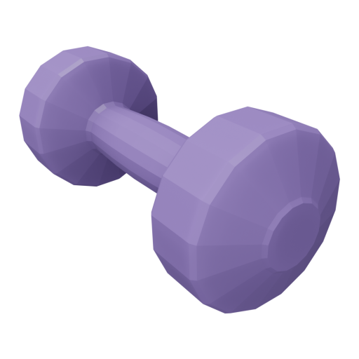 Dumbbell Plastic 1 - Small - Purple 3D Model