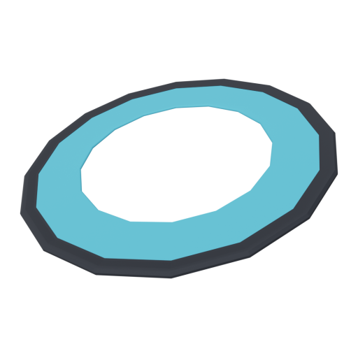 Flying Ring 1 - Blue 3D Model