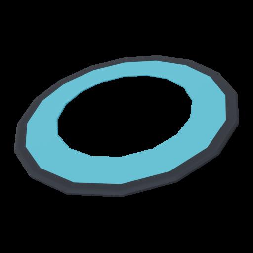Flying Ring 1 - Blue 3D Model