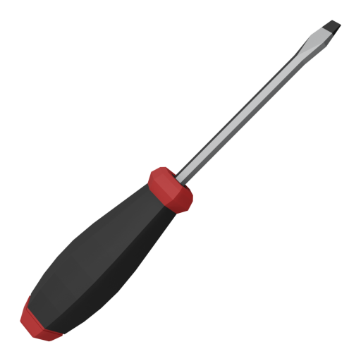 Screwdriver 1 - Slotted 3D Model