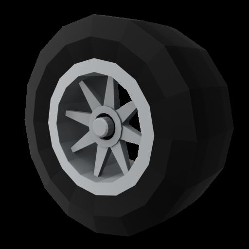 IndyCar Wheel 1 - Front 3D Model