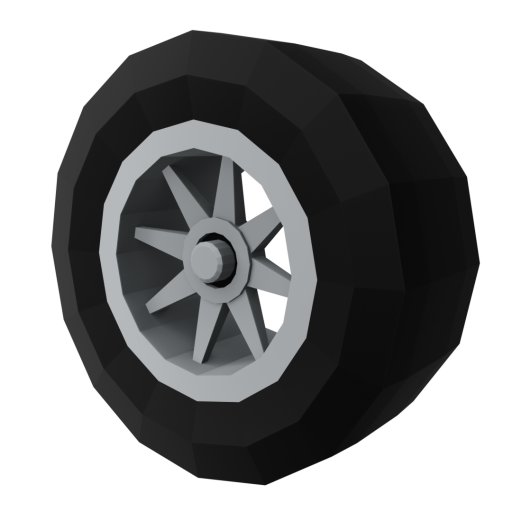 IndyCar Wheel 1 - Front 3D Model